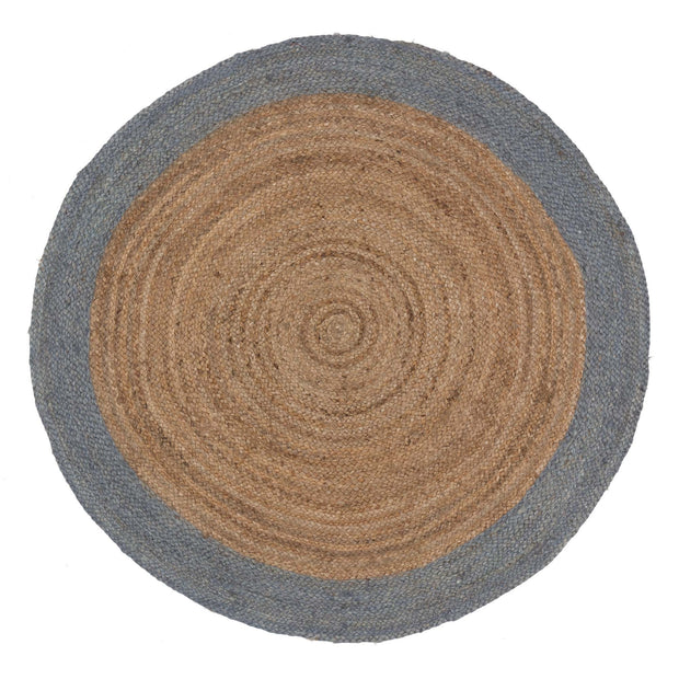 Nandi rug, natural & light grey blue, 100% jute |High quality homewares