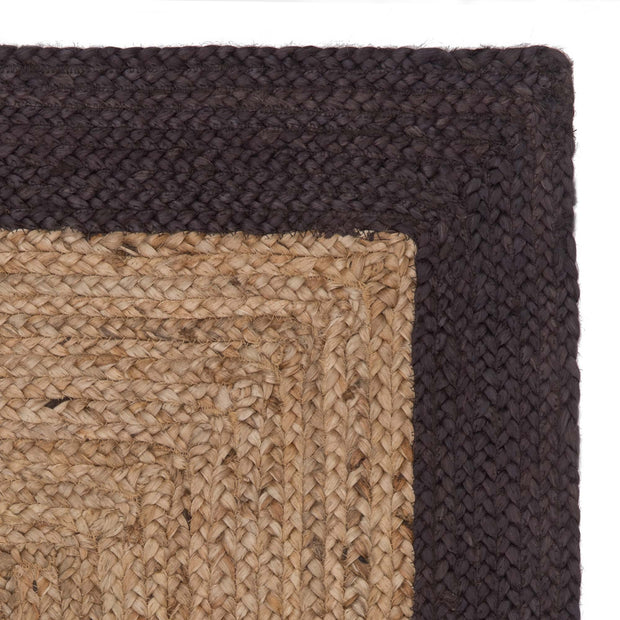 Nandi runner, natural & charcoal, 100% jute
