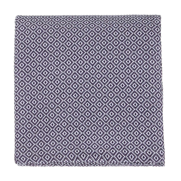 Mondego blanket, dark blue & white, 100% cotton