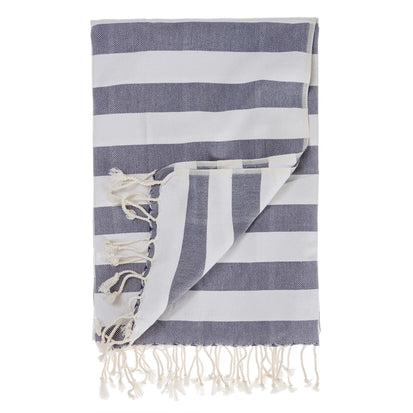 Filiz hammam towel, dark blue & white, 100% cotton