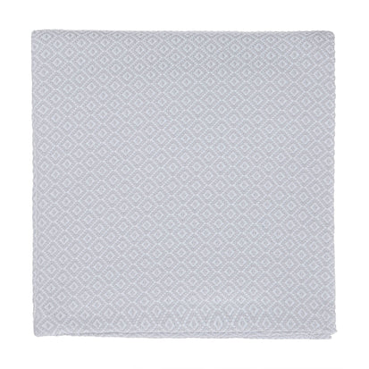 Mondego blanket, light grey & white, 100% cotton
