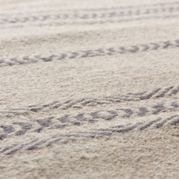 Kabini rug, charcoal & beige, 100% wool |High quality homewares