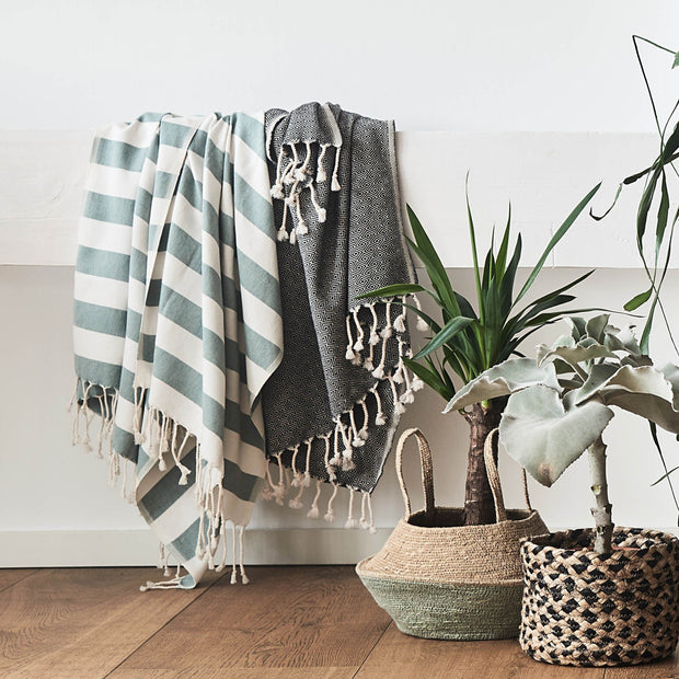Cesme Hammam Towel in black & white | Home & Living inspiration | URBANARA