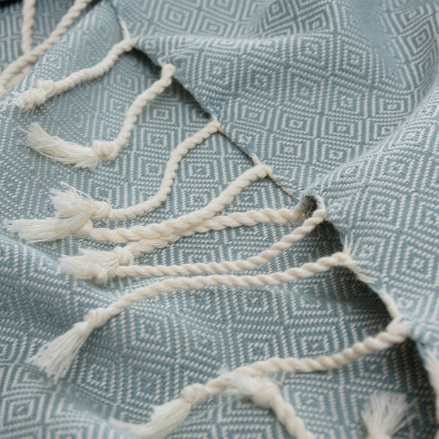 Cesme Hammam Towel in green grey & white | Home & Living inspiration | URBANARA