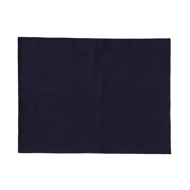 Teis place mat, dark blue, 100% linen