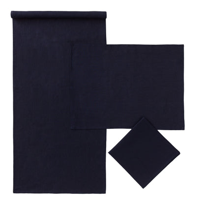 Dark blue Teis Tischdecke | Home & Living inspiration | URBANARA