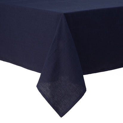 Teis table cloth, dark blue, 100% linen