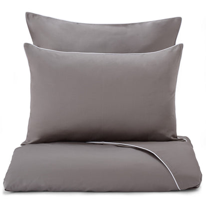 Lanton duvet cover, grey & white, 100% cotton