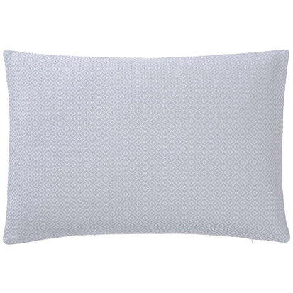 Mondego cushion cover, light grey & white, 100% cotton