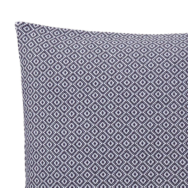 Mondego cushion cover, dark blue & white, 100% cotton | URBANARA cushion covers