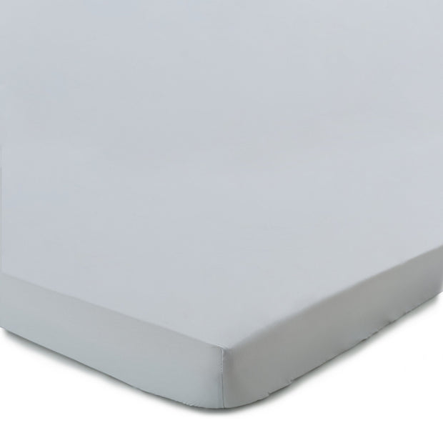 Perpignan fitted sheet, light grey, 100% combed cotton
