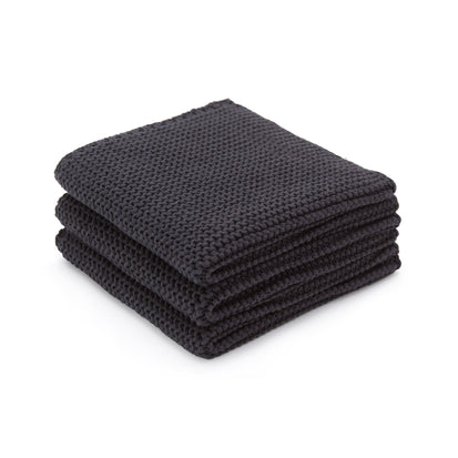 Safara dishcloth, charcoal, 100% cotton
