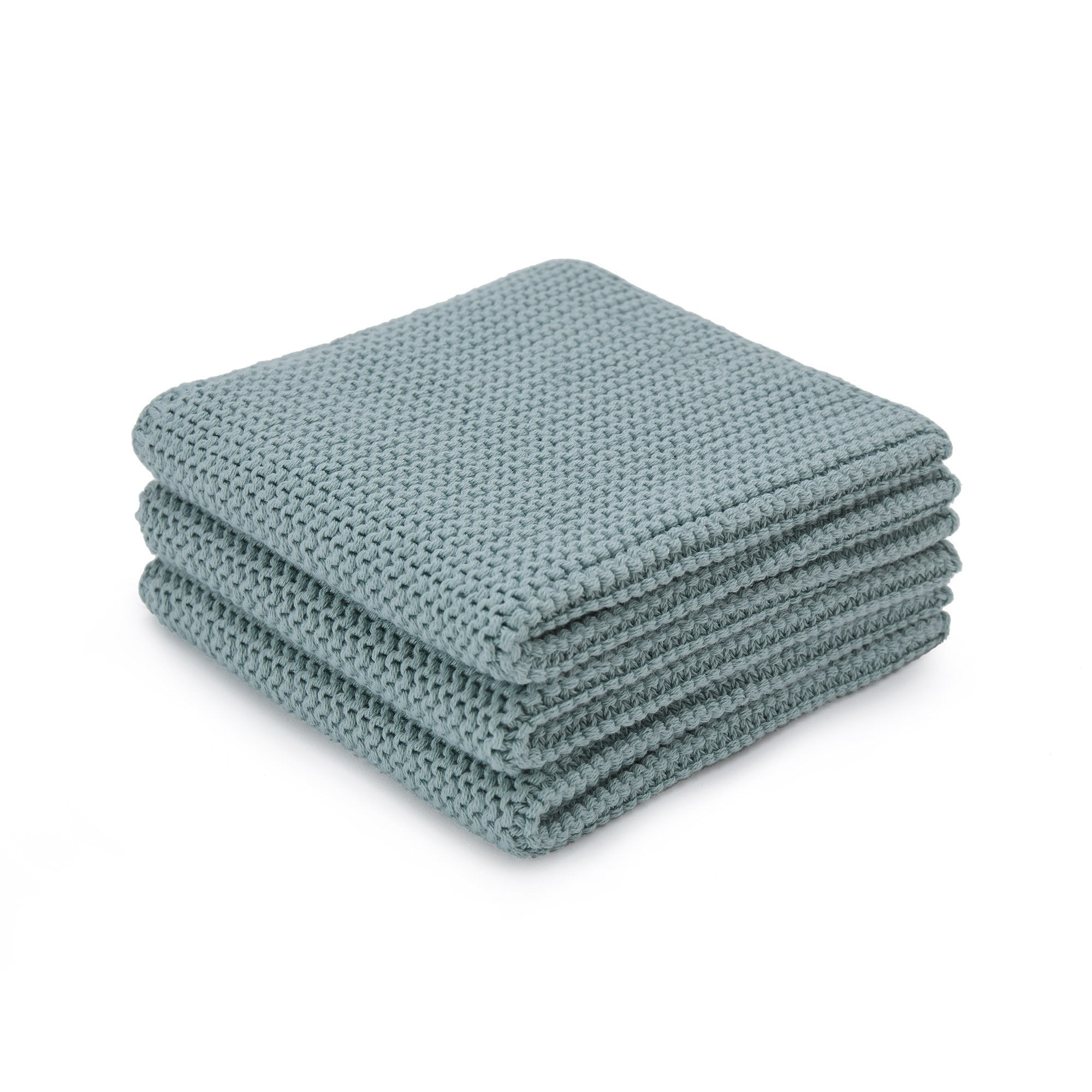 Safara dishcloth, green grey, 100% cotton