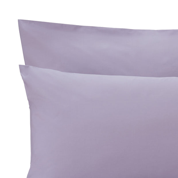 Perpignan pillowcase, light purple grey, 100% combed cotton | URBANARA percale bedding