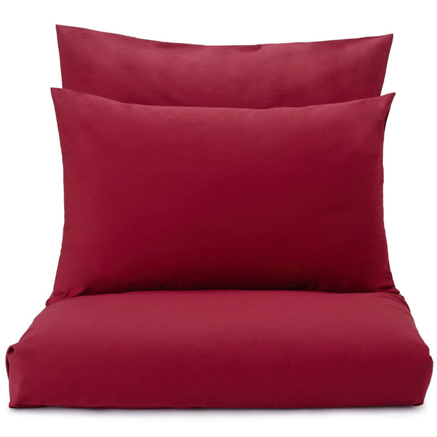 Perpignan duvet cover, ruby red, 100% combed cotton