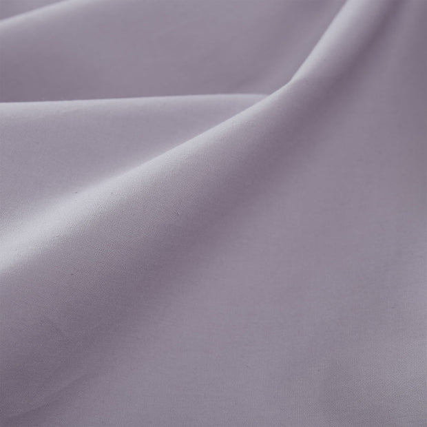 Perpignan fitted sheet, light purple grey, 100% combed cotton | URBANARA fitted sheets