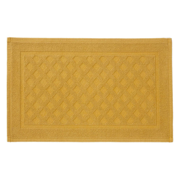 Osuna bath mat, mustard, 100% cotton