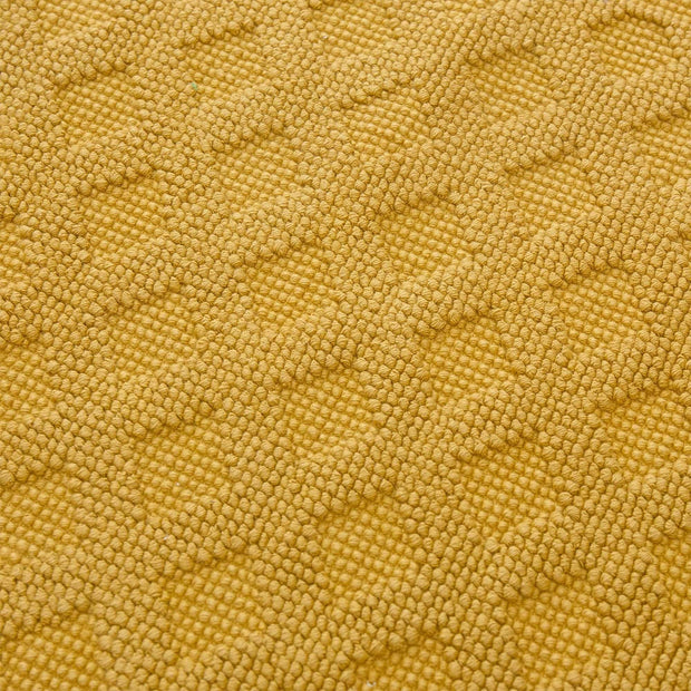 Osuna bath mat, mustard, 100% cotton |High quality homewares