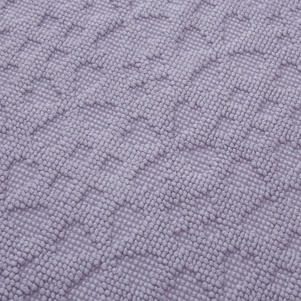 Qasita bath mat, light purple grey, 100% cotton | URBANARA bath mats