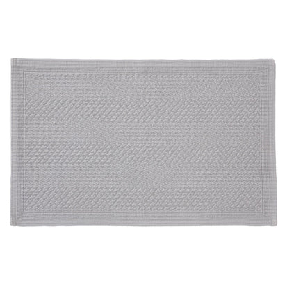 Tajo bath mat, light grey, 100% cotton
