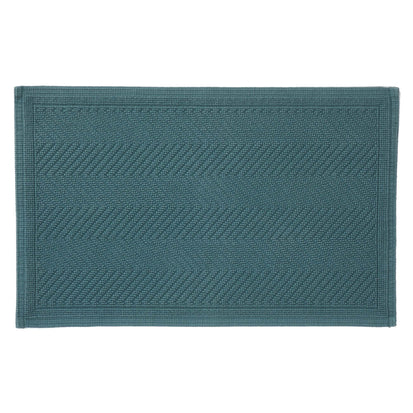 Tajo bath mat, green grey, 100% cotton