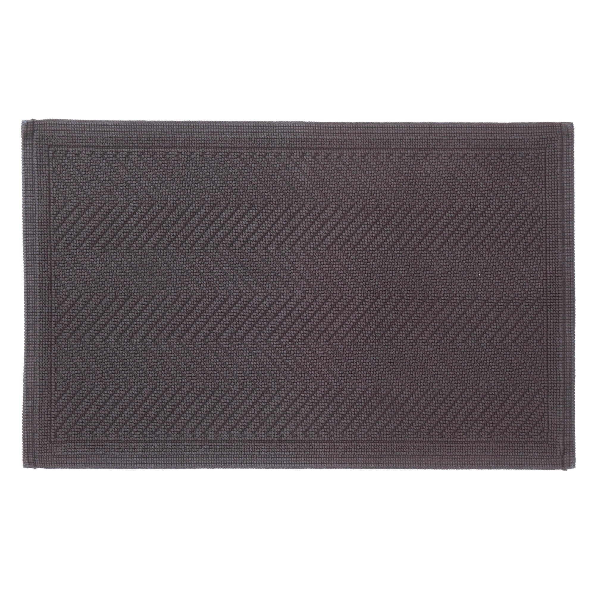 Tajo bath mat, charcoal, 100% cotton