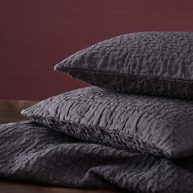 Alviela bedspread, charcoal, 100% cotton |High quality homewares