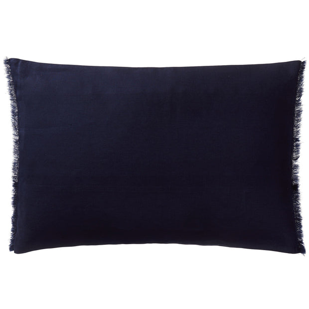 Bellvis cushion cover, dark blue, 100% linen