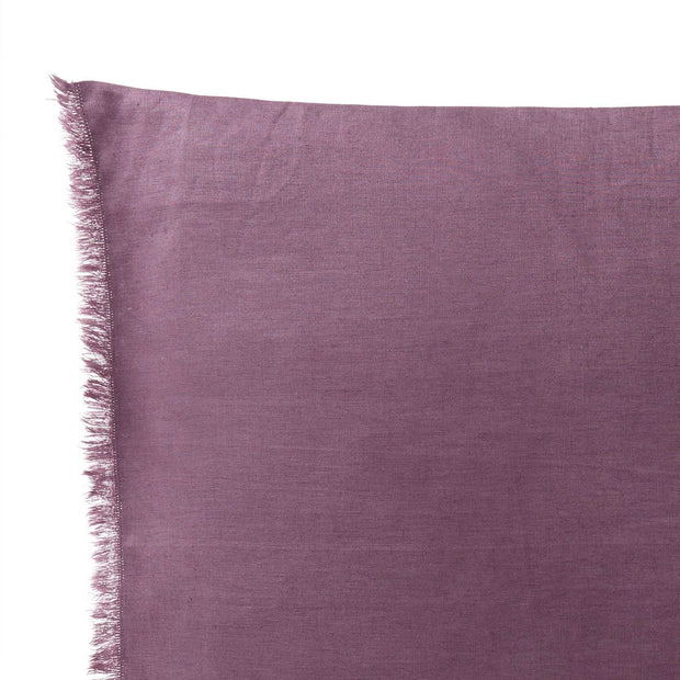 Bellvis cushion cover, aubergine, 100% linen | URBANARA cushion covers