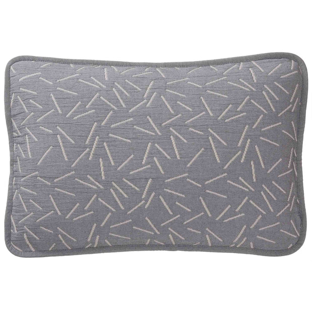 Alcains cushion cover, grey & sand, 80% cotton & 20% polyester