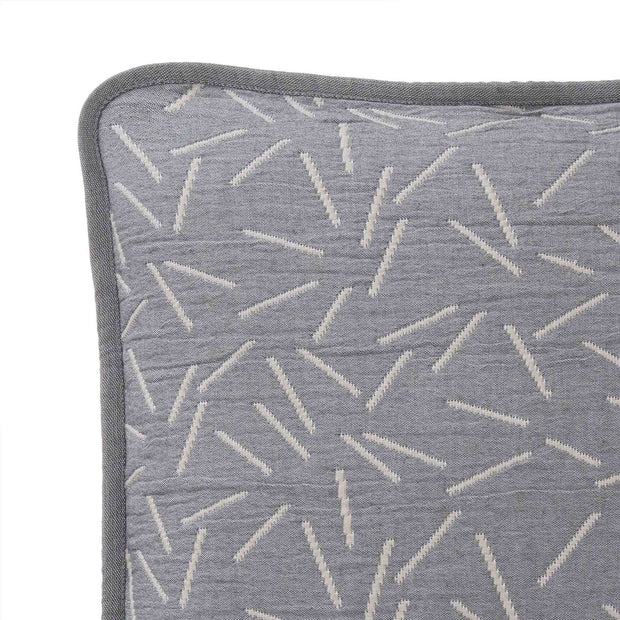 Alcains cushion cover, grey & sand, 80% cotton & 20% polyester | URBANARA cushion covers