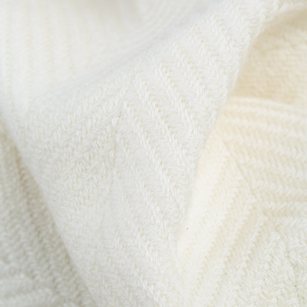 Salla blanket, cream & cream, 100% new wool |High quality homewares