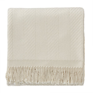 Salla Wool Blanket [Cream/Cream]