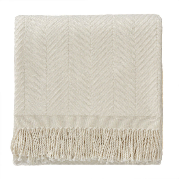 Salla blanket, cream & cream, 100% new wool