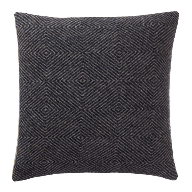 Gotland cushion cover, dark blue & grey, 100% wool & 100% linen