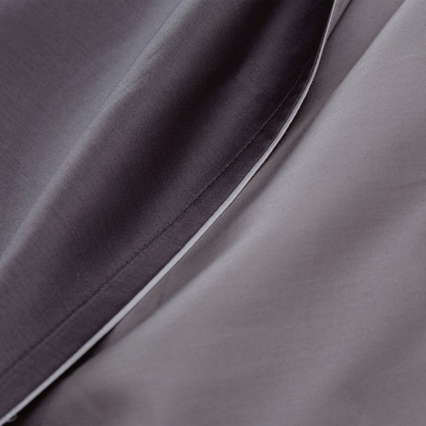 Catania duvet cover, charcoal & grey & light grey, 100% egyptian cotton | URBANARA sateen bedding