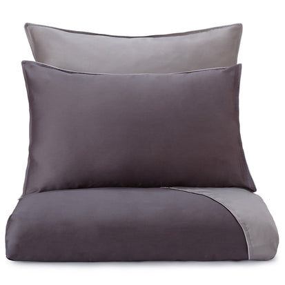 Catania duvet cover, charcoal & grey & light grey, 100% egyptian cotton