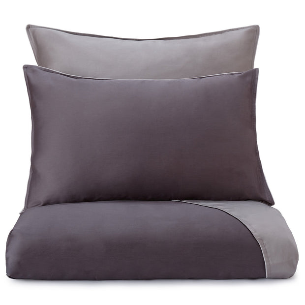 Catania pillowcase, charcoal & grey & light grey, 100% egyptian cotton