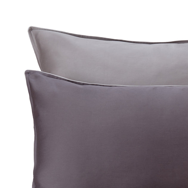 Catania Sateen Bed Linen [Charcoal/Grey/Light grey]