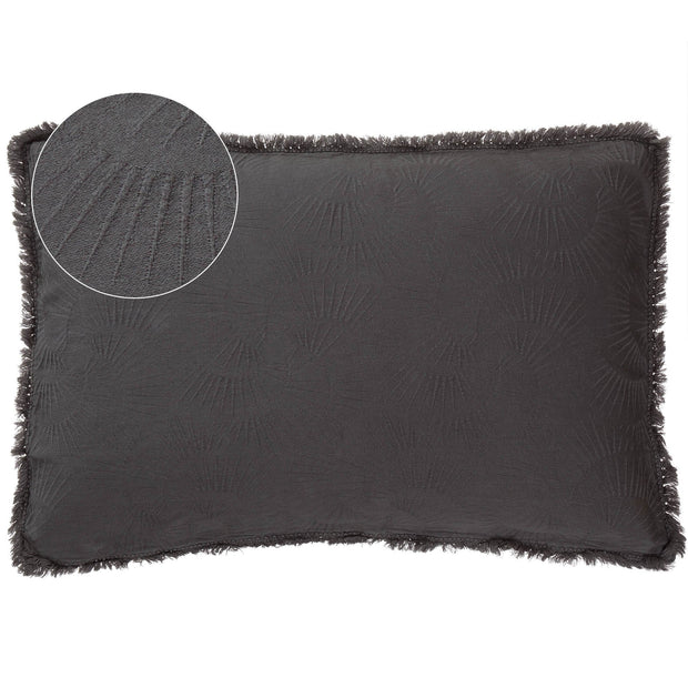 Espinho cushion cover, charcoal, 100% cotton