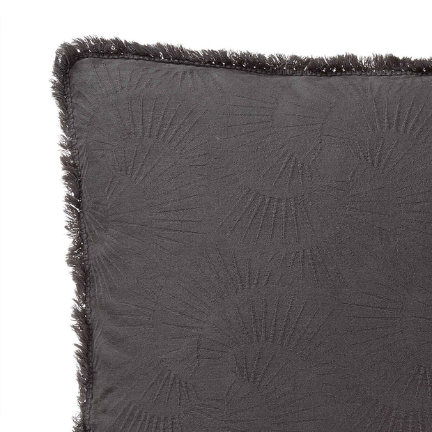 Espinho cushion cover, charcoal, 100% cotton | URBANARA cushion covers