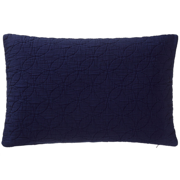 Carvado cushion cover, dark blue, 100% cotton