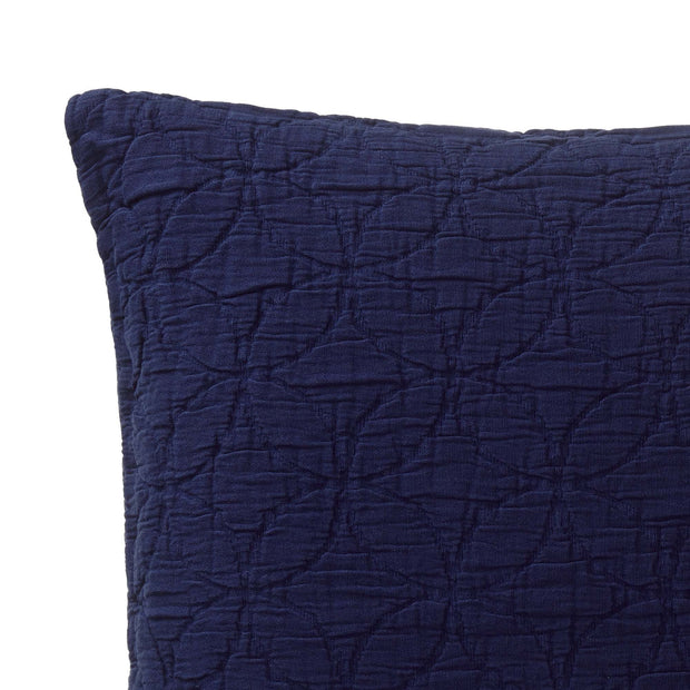 Carvado cushion cover, dark blue, 100% cotton | URBANARA cushion covers