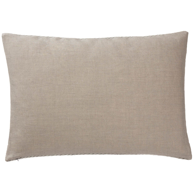 Gotland Cushion grey & cream, 100% wool & 100% linen | High quality homewares