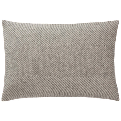 Gotland Cushion grey & cream, 100% wool & 100% linen