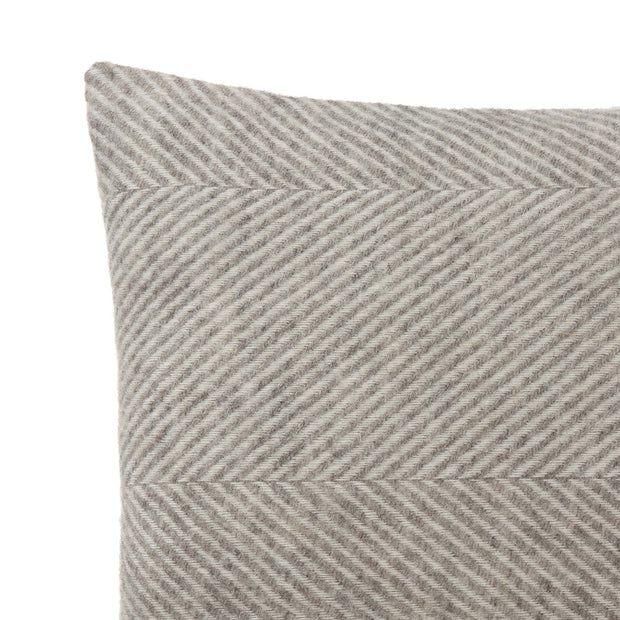 Gotland Cushion grey & cream, 100% wool & 100% linen | URBANARA cushion covers