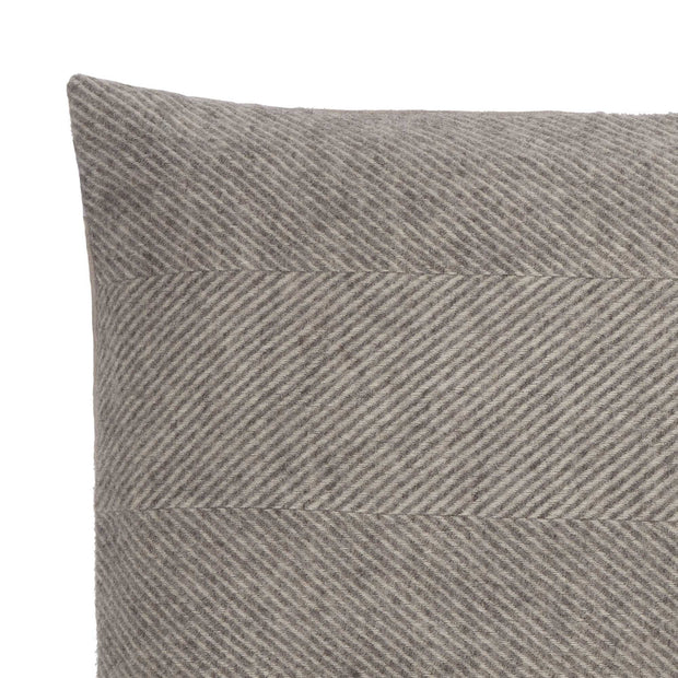 Gotland cushion cover, grey & cream, 100% wool & 100% linen | URBANARA cushion covers