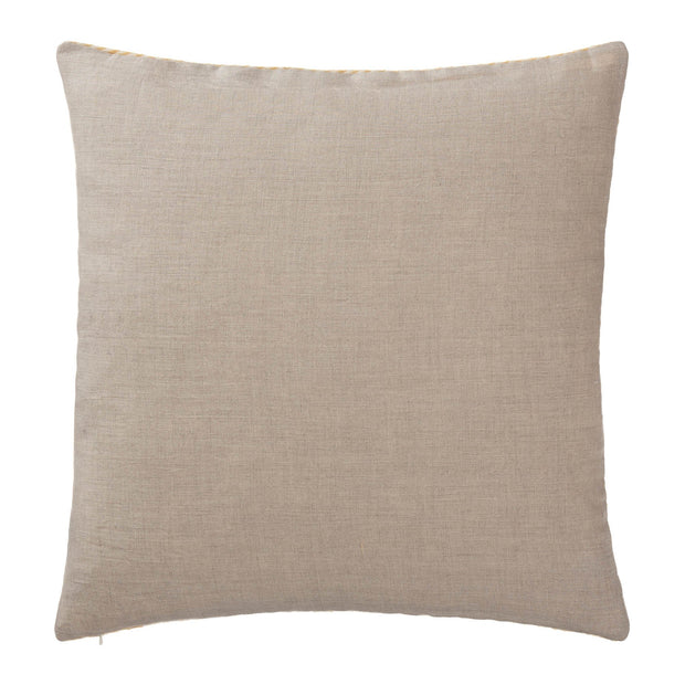 Gotland cushion cover, mustard & cream, 100% wool & 100% linen |High quality homewares