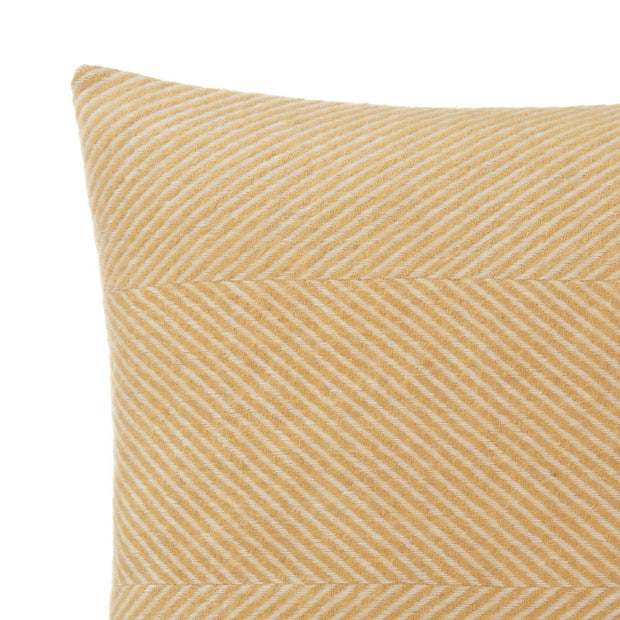 Gotland cushion cover, mustard & cream, 100% wool & 100% linen | URBANARA cushion covers