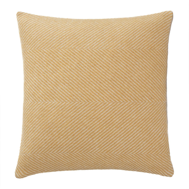 Gotland cushion cover, mustard & cream, 100% wool & 100% linen